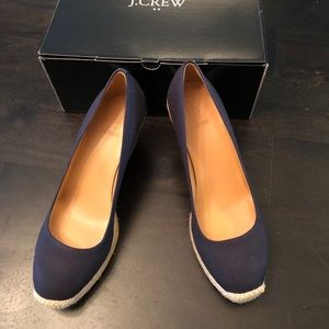 NEW J. Crew navy canvas espadrilles